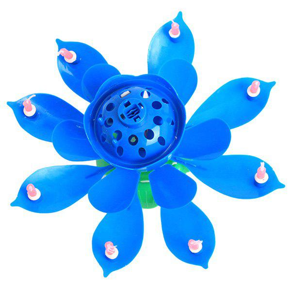 Online Electric Birthday Candle Music Lotus Flower Cake Decoration