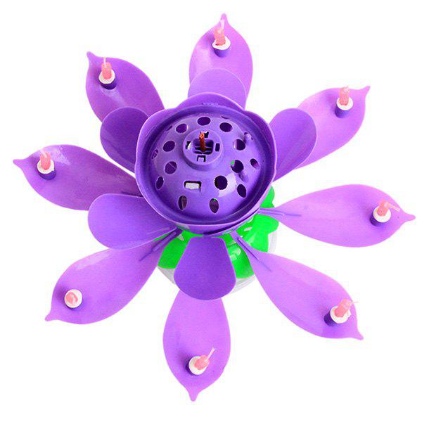 Shop Electric Birthday Candle Music Lotus Flower Cake Decoration
