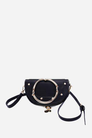 6462768a0beb Simple Creative Fashion PU Crossbody Bag with Portable Round Ring