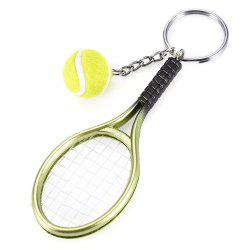 Keychain Tennis Rocket Pendant Creative Popular Young Style -
