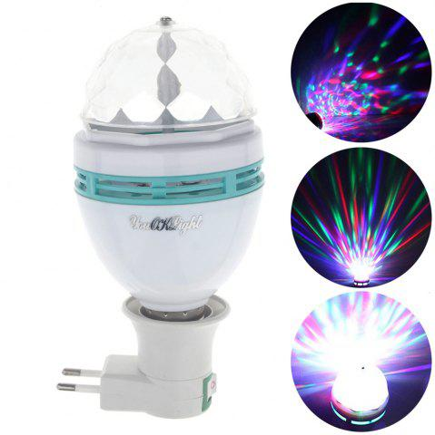 Shops Youoklight AC 85 - 265V Automatic Rotating 3W RGB Bulb with E27 Adapter