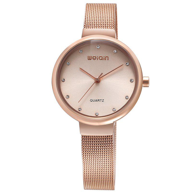WeiQin W484304 1090 Women Simple Diamond Embedded WatchJEWELRY<br><br>Color: ROSE GOLD; Brand: Weiqin; Watches categories: Women; Watch style: Business,Casual,Classic,Fashion;