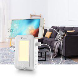Houzetek Wall Mount USB Charger LED Sensor Night Light -