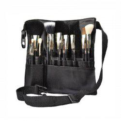Professional Makeup Brush Organizer Cosmetic Bag with Belt -