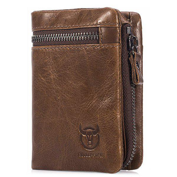 Outfits BULLCAPTAIN Trendy Genuine Leather Bifold Wallet for Men