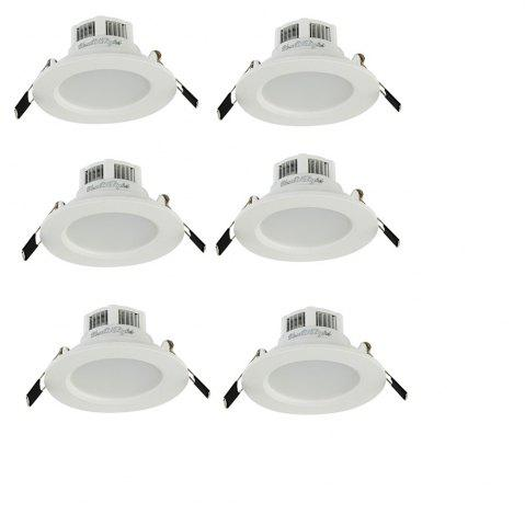 Outfits YouOkLight YK4404 3W 6000K 5730 SMD LED Downlight 6PCS AC 85 - 265V WHITE LIGHT