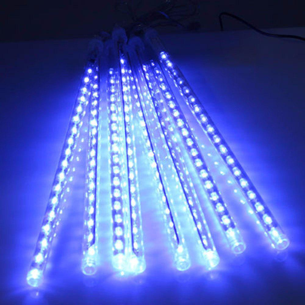 30CM 8 Tubes Christmas LED Meteor Shower Rain Lights Snow Falling Raindrop Cascading Outdoor AC 110 - 240VHOME<br><br>Size: US POWER ADAPTER; Color: BLUE LIGHT; Output Power: 3W; Voltage (V): AC 110-240; Emitter Types: High Power LED; Color Temperature or Wavelength: 6000 - 6500K ( white ) / 700 - 635nm ( red ) / 650 - 490nm ( green ) / 490 - 440 nm ( blue ); Features: Easy to use,Energy Saving; Function: Commercial Lighting,Home Lighting,Outdoor Lighting,Studio and Exhibition Lighting; Available Light Color: Blue,Colorful,White; Body Color: Transparent; Sheathing Material: PVC;