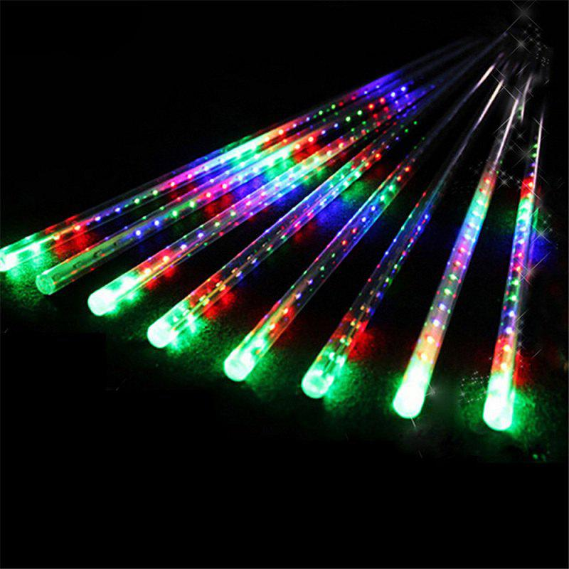 30CM 8 Tubes Christmas LED Meteor Shower Rain Lights Snow Falling Raindrop Cascading Outdoor AC 110 - 240VHOME<br><br>Size: EU POWER ADAPTER; Color: COLORFUL; Output Power: 3W; Voltage (V): AC 110-240; Emitter Types: High Power LED; Color Temperature or Wavelength: 6000 - 6500K ( white ) / 700 - 635nm ( red ) / 650 - 490nm ( green ) / 490 - 440 nm ( blue ); Features: Easy to use,Energy Saving; Function: Commercial Lighting,Home Lighting,Outdoor Lighting,Studio and Exhibition Lighting; Available Light Color: Blue,Colorful,White; Body Color: Transparent; Sheathing Material: PVC;