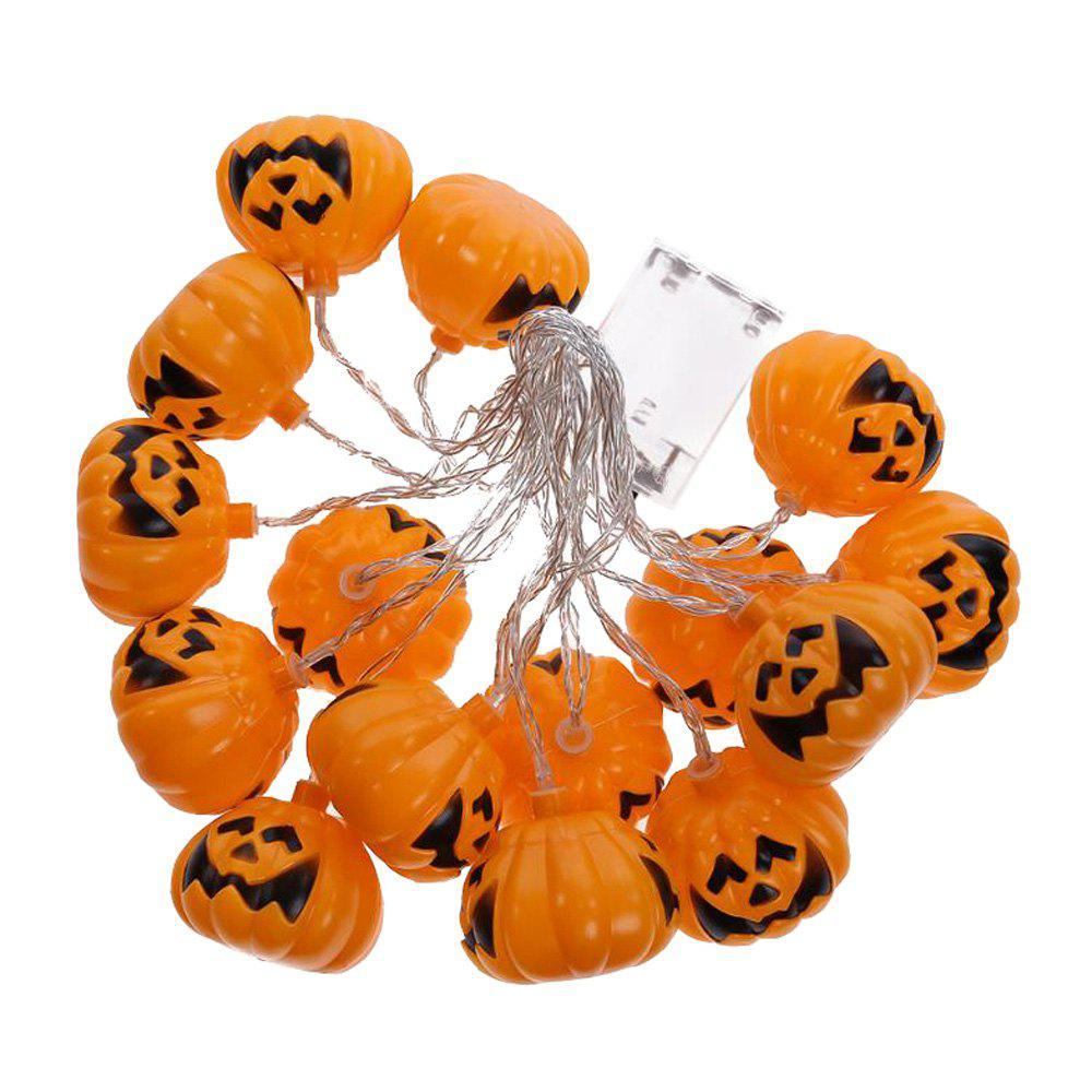 Store 3M Halloween Pumpkin Battery Powered Colorful String LED Light Bar with 16 Lamp Holders