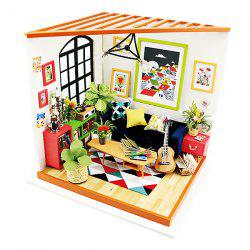 ROBOTIME 3D Puzzle DIY Handmade Furniture Miniature Sets Sitting Room Home Decor for Boys and Girls -