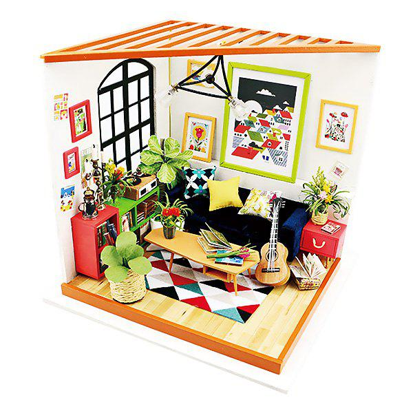 New ROBOTIME 3D Puzzle DIY Handmade Furniture Miniature Sets Sitting Room Home Decor for Boys and Girls