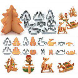 Hoard 8PCS 3D Christmas Scenario Cookie Cutter Mold Set Stainless Steel Fondant Cake Mould