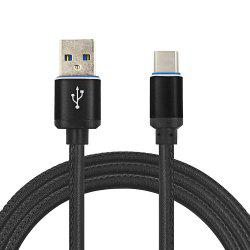 Mini Smile 3.4A Quick Charge Leather Type-C To Usb Charging Cable with High-Speed Data Transmission 100CM -