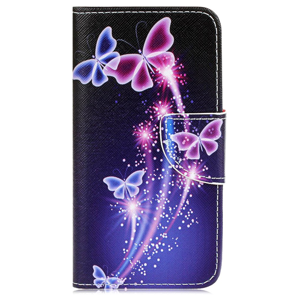 New Purple Butterfly Knife and Cut Color Phone Case for Sony X