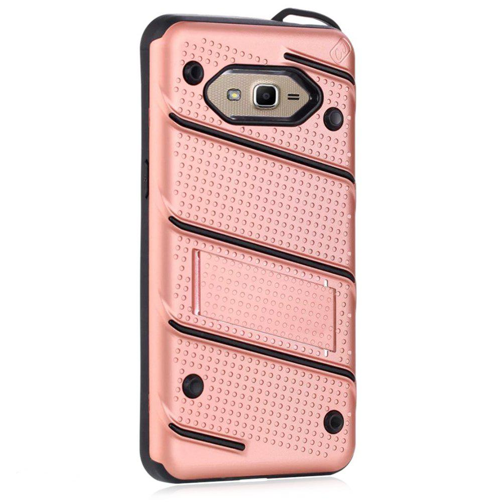 Best Wkae Ultra Thin Dual Layer Shockproof TPU Back Cover Case with Kickstand for Samsung Galaxy J2 Prime