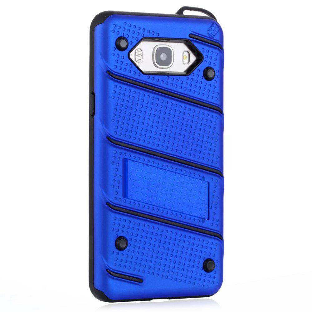 Affordable Wkae Ultra Thin Dual Layer Shockproof TPU Back Cover Case with Kickstand for Samsung Galaxy J7 2016
