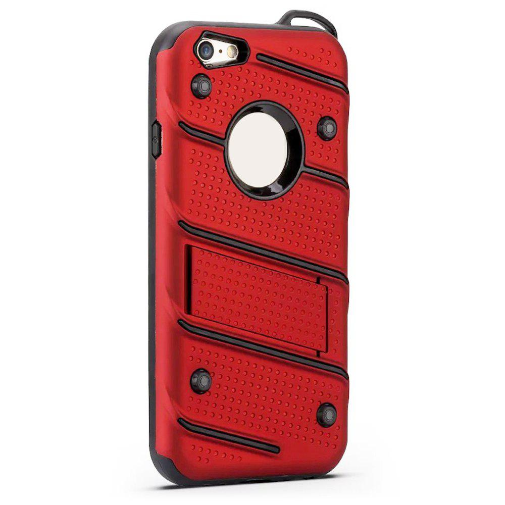 Hot Wkae Ultra Thin Dual Layer Shockproof TPU Back Cover Case with Kickstand for iPhone 6 / 6s