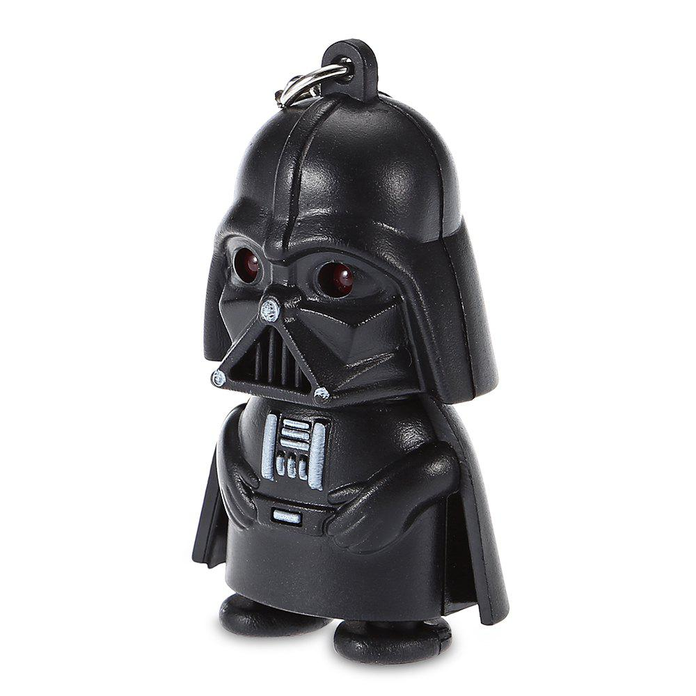 Darth Vader Style Key Ring Voice Light Control Bulk KeychainHOME<br><br>Size: DARTH VADER STYLE; Color: BLACK; Type: Keychain; Material: Electronic Components; Product weight: 0.0160 kg; Package weight: 0.0400 kg; Product size (L x W x H): 6.00 x 3.50 x 7.00 cm / 2.36 x 1.38 x 2.76 inches; Package size (L x W x H): 7.00 x 7.50 x 4.50 cm / 2.76 x 2.95 x 1.77 inches; Package Contents: 1 x Keychain;