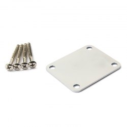 Neck Plate Board Set with Screw for Electric Bass Guitar -