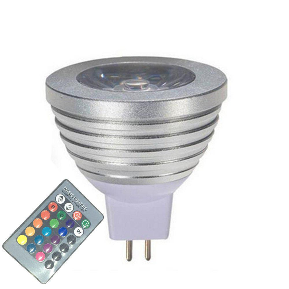 OMTO MR16 3W RGB Color Changing Spotlight with IR Remote Control Mood Ambiance Lighting 16 Color Dimmable 12VHOME<br><br>Color: RGB; Brand: OMTO; Type: LED Spotlight; LED Beam Angle: 60 Degree; Wattage: 3W; Voltage: 12V; Connection: MR16; Dimmable: Yes; Initial Lumens ( lm ): 150; Color Temperature or Wavelength: RGB; Bulb Shape: MR16; Material: Aluminium 6061;
