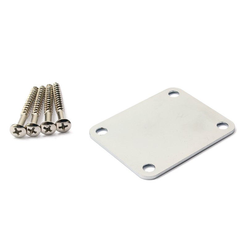 Trendy Neck Plate Board Set with Screw for Electric Bass Guitar