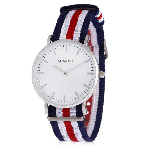 Outfit SONSDO Quartz Watch with Canvas Band for Men