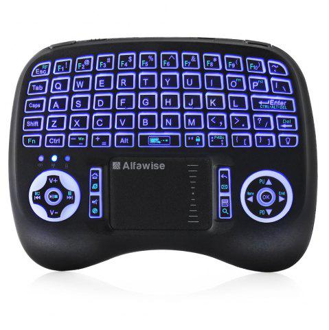Sale Alfawise KP - 810 - 21T - RGB 2.4G Wireless Keyboard with Touchpad Mouse