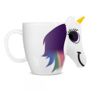 COZZINE Magic Unicorn Pattern Ceramic Heat Sensitive Mug Rainbow Color Changing Coffee Cup -