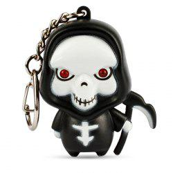 New Luminous Sound LED Key Chain for Halloween Gift 1PC -