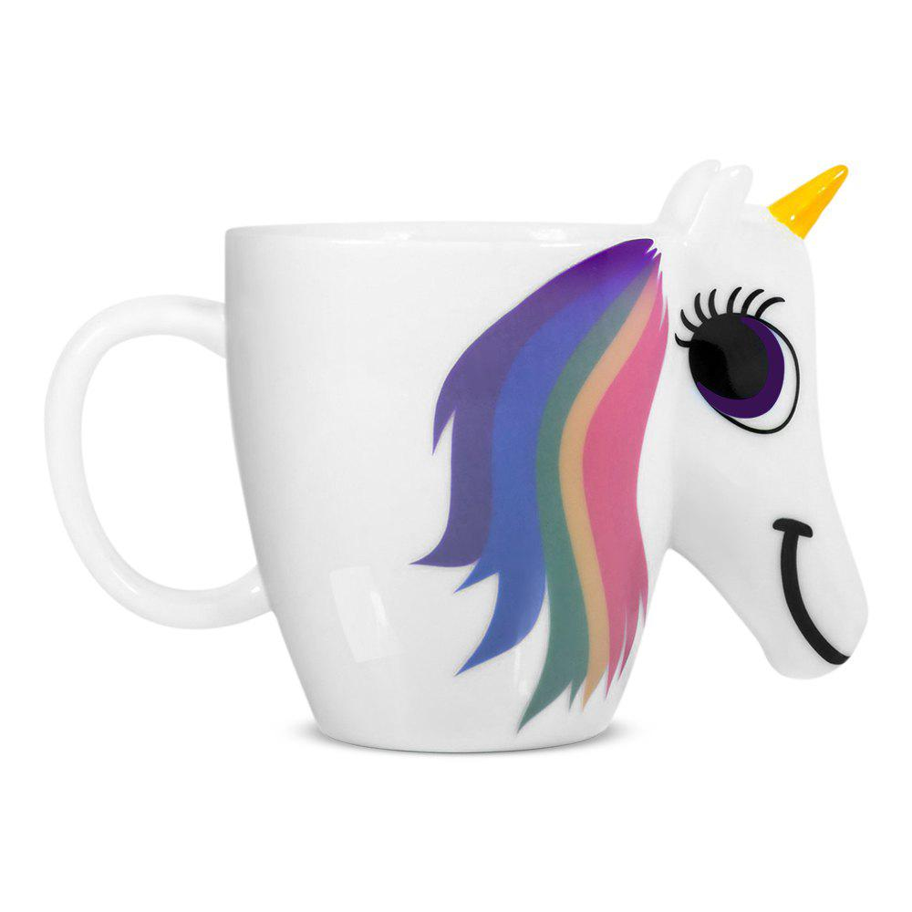 Online COZZINE Magic Unicorn Pattern Ceramic Heat Sensitive Mug Rainbow Color Changing Coffee Cup