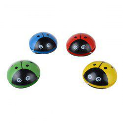 Classic Cartoon Ladybug Shape Wooden Yo-yo Ball for Kids 1pc -