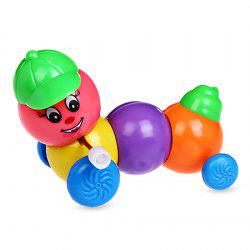 Wind Up Caterpillar Shape Clockwork Toy for Kids 1pc -