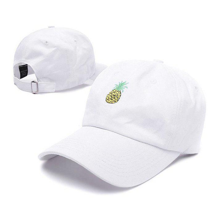 Fashion Fresh Pineapple Embroidery Baseball Sun Hat for Couple