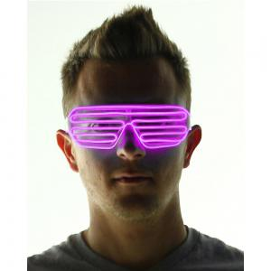 YouOKLight DC 3V 3 Modes Sound Control Flash El LED Glasses Luminous Party Lighting Colorful Glowing Classic Toys for Dance DJ Party Mask 1PC -