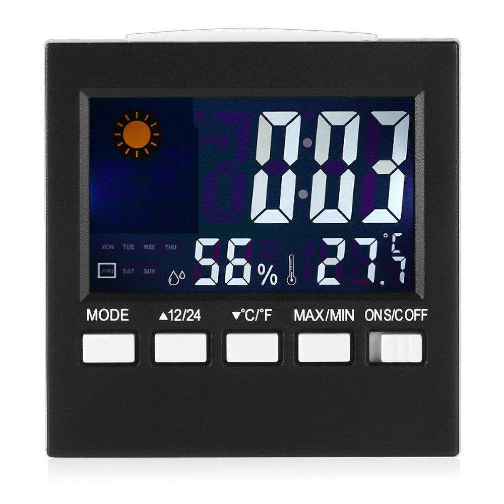 New Digital LCD Calendar Timer Alarm Clock with Temperature Humidity Weather Display