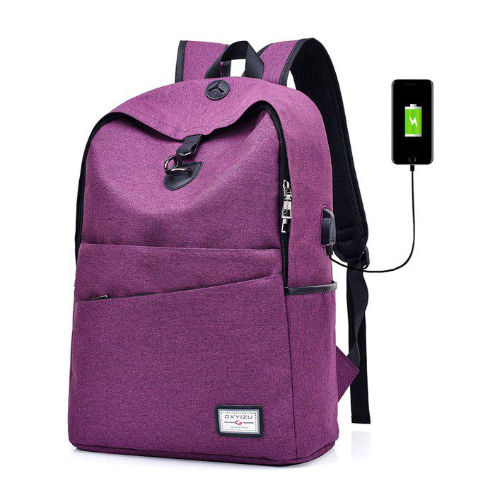 bf2935c9654 Unique Leisure Anti-theft Backpack with USB Port for Men