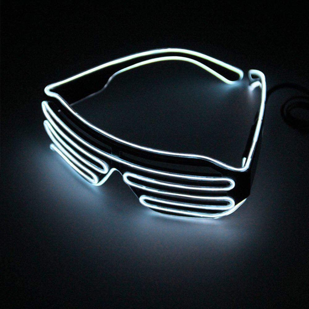 YouOKLight DC 3V 3 Modes Sound Control Flash El LED Glasses Luminous Party Lighting Colorful Glowing Classic Toys for Dance DJ Party Mask 1PCHOME<br><br>Color: WHITE; Brand: YouOKLight; Holder: Other; Output Power: 3W; Voltage (V): 3V; Color Temperature or Wavelength: 460 - 470nm; Features: Easy to use,Energy Saving; Function: Home Lighting; Available Light Color: Blue; Body Color: White; Sheathing Material: PVC;