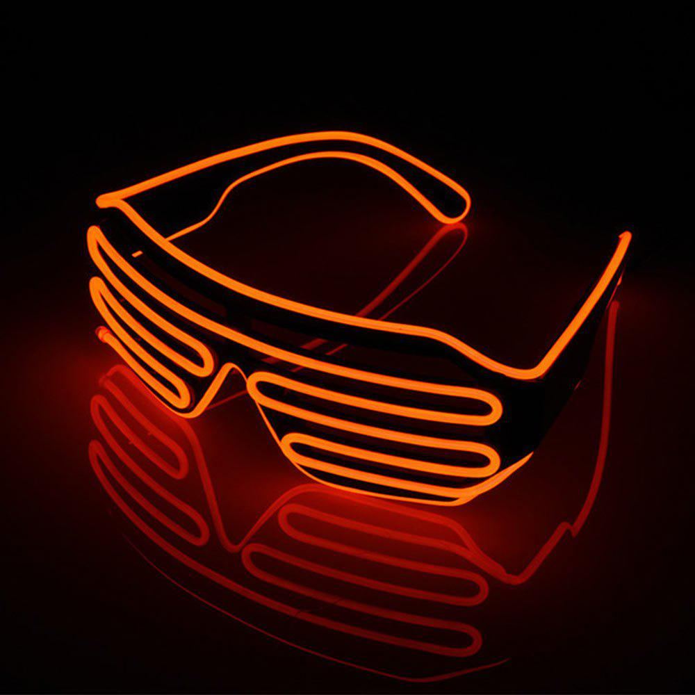 Shops YouOKLight DC 3V 3 Modes Sound Control Flash El LED Glasses Luminous Party Lighting Colorful Glowing Classic Toys for Dance DJ Party Mask 1PC