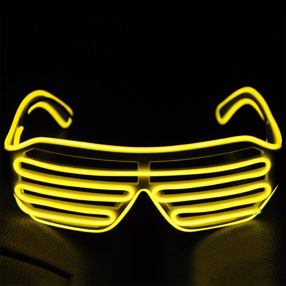 Online YouOKLight DC 3V 3 Modes Sound Control Flash El LED Glasses Luminous Party Lighting Colorful Glowing Classic Toys for Dance DJ Party Mask 1PC