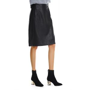 Faded Leather Skirt -