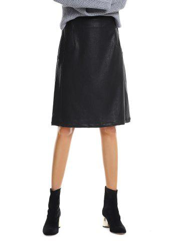 Shop Washed Leather Skirt