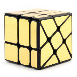 Mirror Surface Puzzle Fire Wheel Style Magic Cube 3 x 3 x 3 -