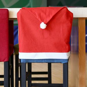 Yeduo Hort Santa Claus Hat Chair Covers Christmas Dinner Table Party -