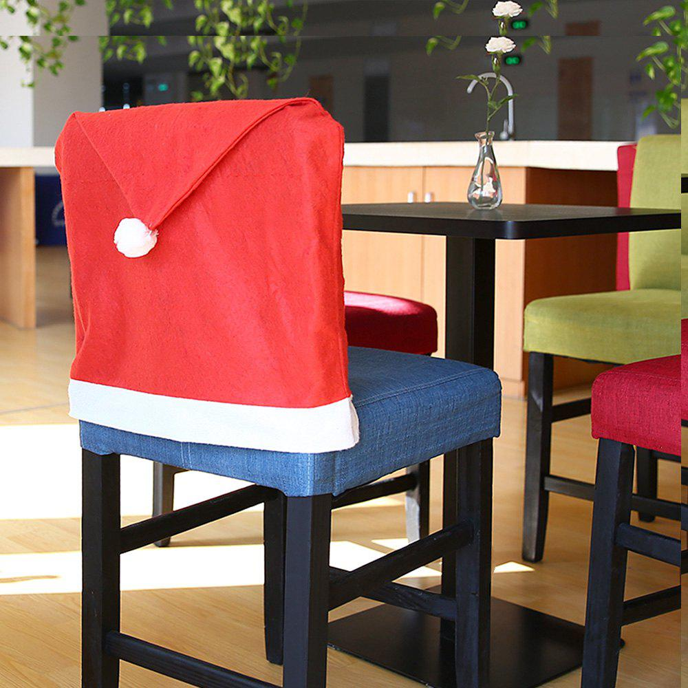 Yeduo Hort Santa Claus Hat Chair Covers Christmas Dinner Table PartyHOME<br><br>Color: RED; Material: Nonwoven; For: All; Usage: Christmas;