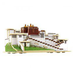 DIY 3D Wooden House Model Pretend Play Jigsaw Puzzle -
