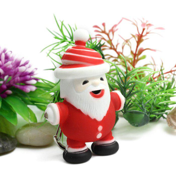 Store Christmas Santa Claus ABS Key Ring with Light / Sound