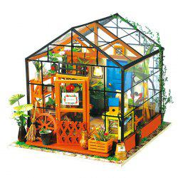 Creative DIY 3D Wooden Building Model Set Pretend Play Jigsaw Puzzle -