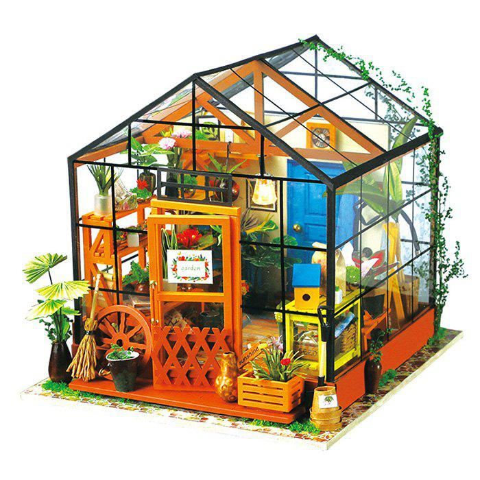 Outfit Creative DIY 3D Wooden Building Model Set Pretend Play Jigsaw Puzzle