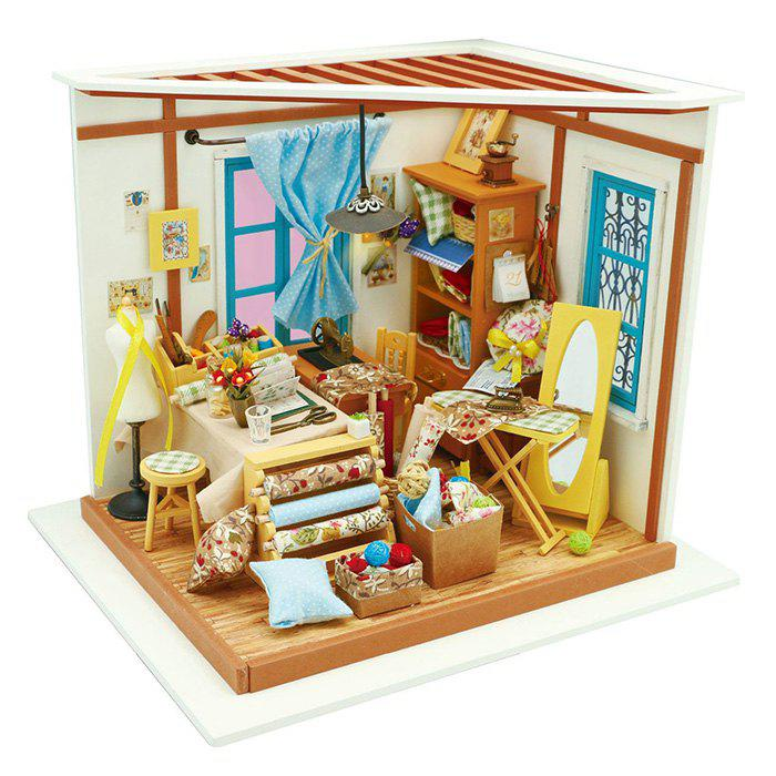Outfits Creative DIY 3D Wooden Building Model Set Pretend Play Jigsaw Puzzle