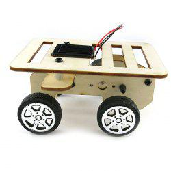 Creative DIY Wooden Small Car Toy Powered by Solar -